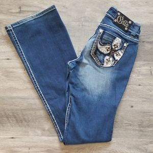 Cello Flare Slightly Distressed Jeans